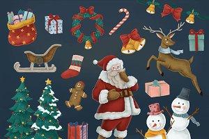 Set of Christmas illustration