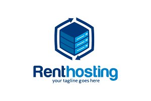 Rent Hosting Logo Template Design