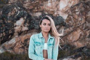 Beautiful Blonde Beach Model