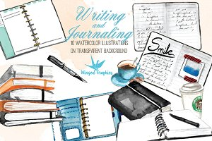 Writing, sketching and journaling