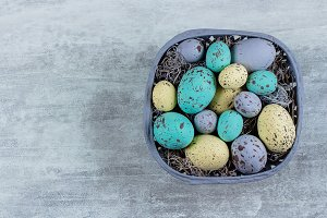 Easter Colorful pastel eggs
