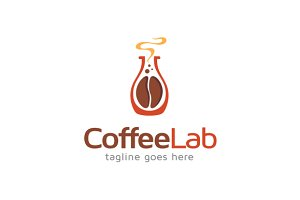 Coffee Lab Logo Template Design