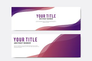 Colorful and abstract banner design