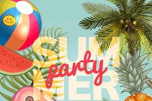 Summer party invitation design