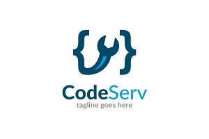 Code Service Logo Template Design