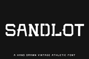 SANDLOT — 5 Vintage Athletic Fonts