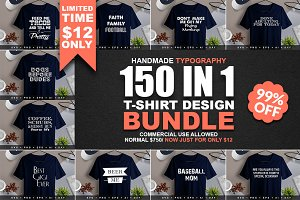 150 Tshirt Design Mega Bundle