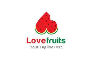 Love Fruits Logo Template Design