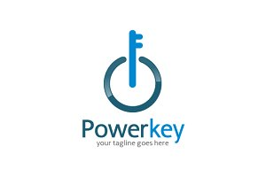 Power Key Logo Template