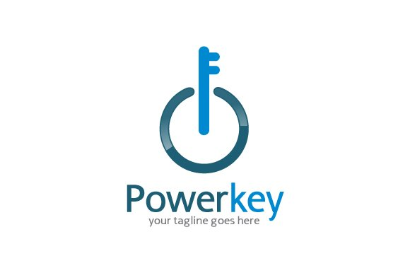 Power key logo template logo templates creative market power key logo template logos pronofoot35fo Images