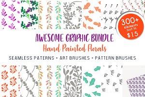 300+ in 1 - Graphic Floral Bundle