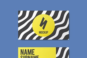 Memphis style creative business card