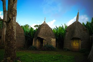 Traditional Dorze tribe village, Che