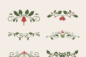 Set of decorative Christmas designs