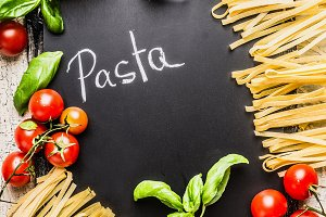 Pasta cooking background