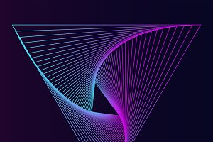 Abstract dynamic pattern wallpaper