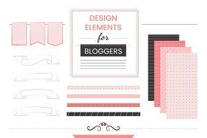 Set of design elements for bloggers
