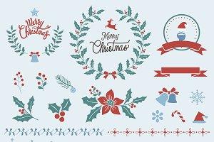 Illustration set of Christmas