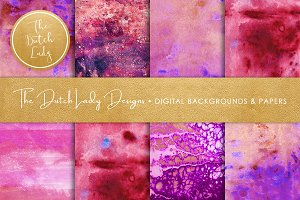 Purple Splotch Scrapbook Papers