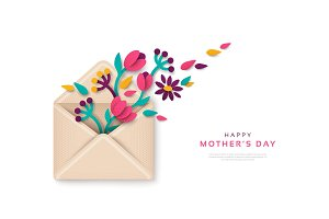Mothers Day gift envelope