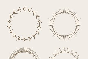 Collection of round ornament design