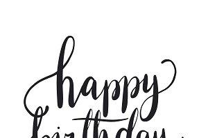 Happy birthday typography style