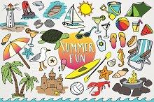 Hand Drawn Beach & Summer Clipart