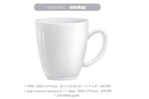 White mug MOCK UP