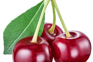 Red cherries. File contains clipping