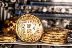 Shiny physical bitcoins and record-k