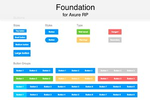 Axure widget library / Foundation