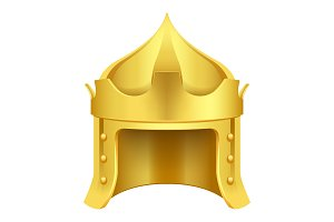 Cartoon Gold King Crown Isolated