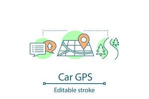 Car GPS system concept icon