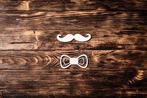 Fathers day concept, mustache and