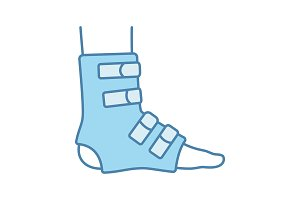 Foot ankle brace color icon