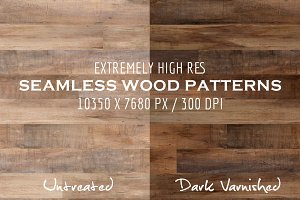 2 Seamless Wood Patterns