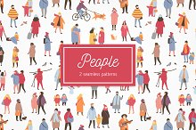Many people seamless pattern set by  in Patterns