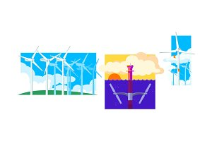 Wind and water turbines, renewable