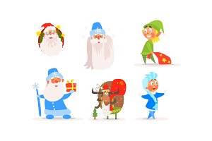 Funny Christmas characters for