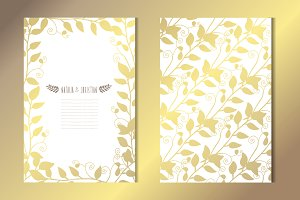 Golden Floral Card Template