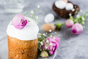 Traditional Easter cake kulich