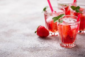 Summer fresh drink strawberry