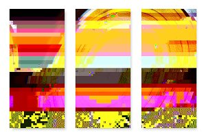 Glitched Posters Set