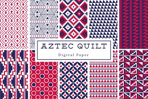 Aztec Quilt Backgrounds