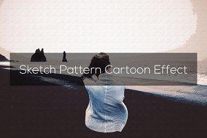 Sketch Pattern Cartoon Effect