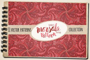 Marsala Seamless Vector Patterns