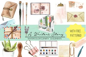 Writer Watercolor Clipart