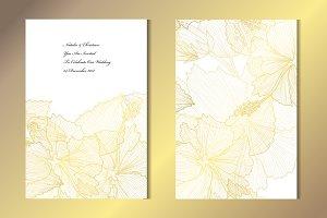 Golden Hibiscus Card Template