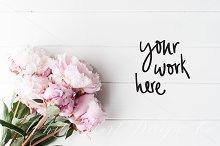 Floral desktop stock photography