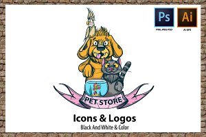Pet Shop. Icons & logos